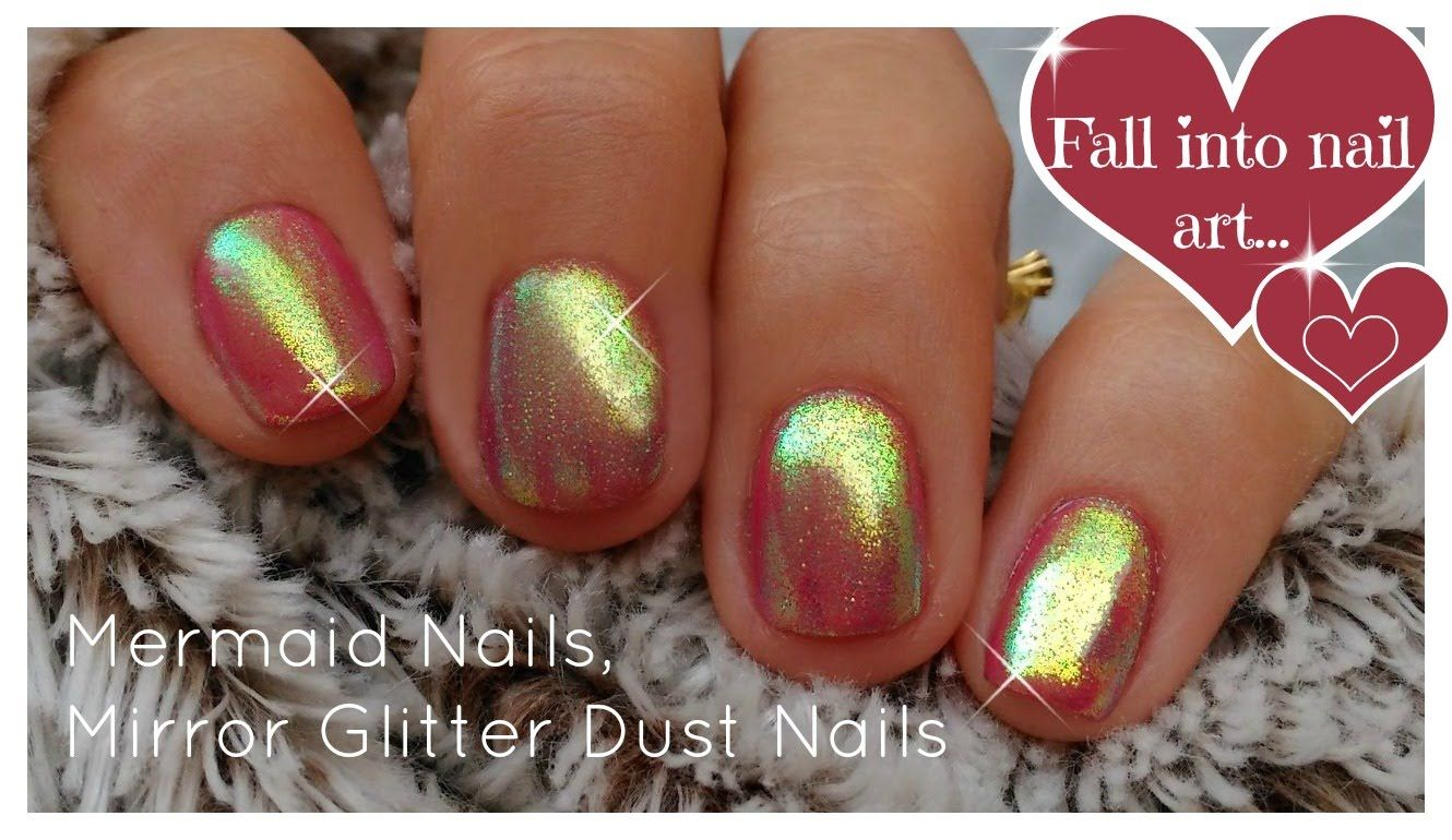 Diy Mermaid Nails Mirror Glitter Powder Chrome Trend