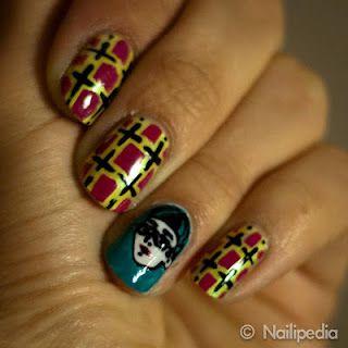 Mondo Guerra inspired Nail Art