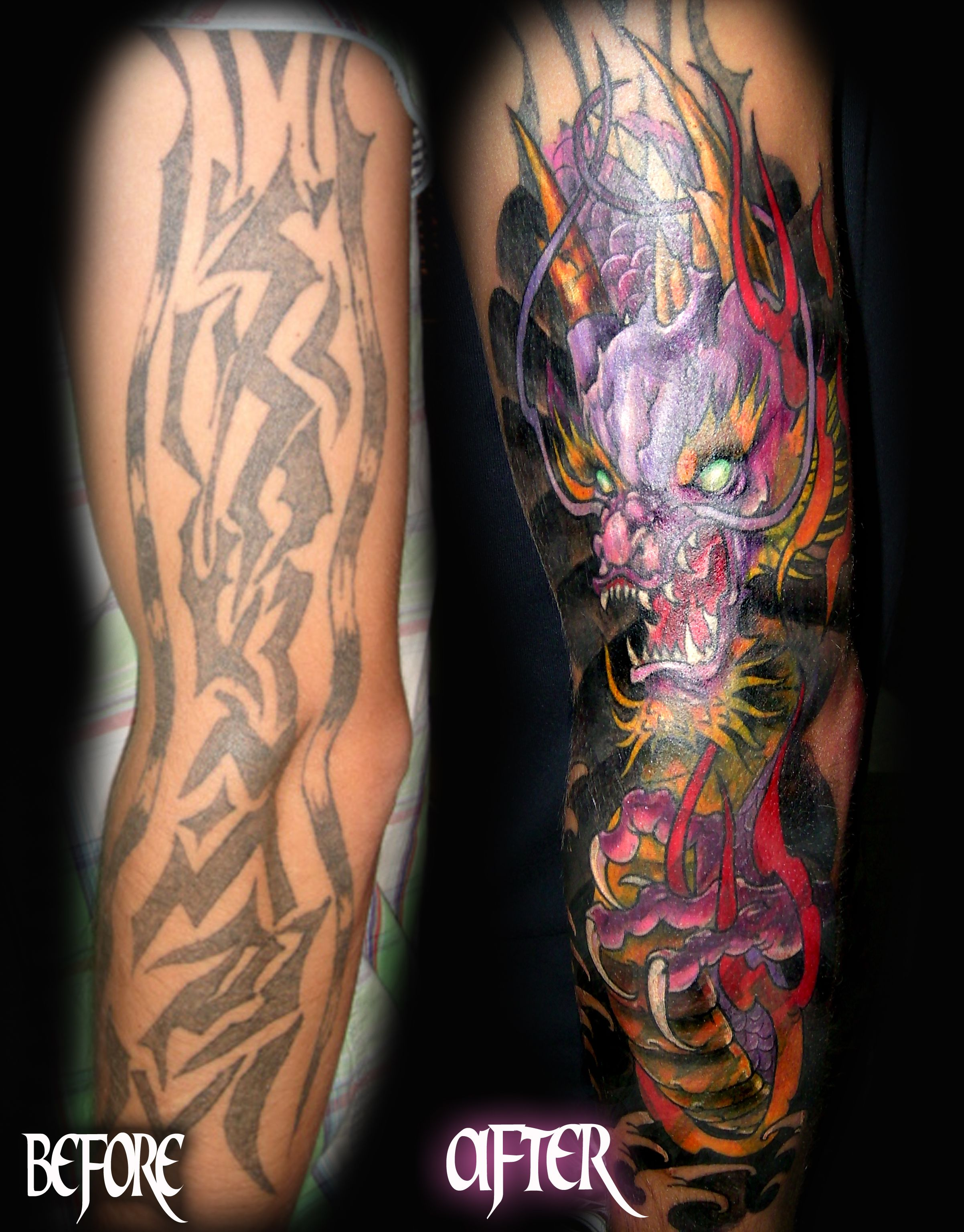 Best Miami tattoo shop tribal cover