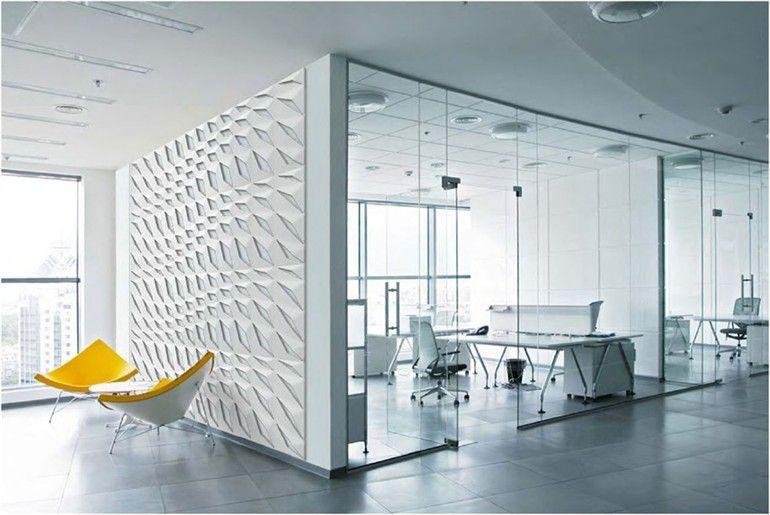 Corian 3d Wall Panel For Interior Dupont Corian 3d Math Series By Dupont De Nemours Italia Modern Office Design Office Design Inspiration Office Interiors