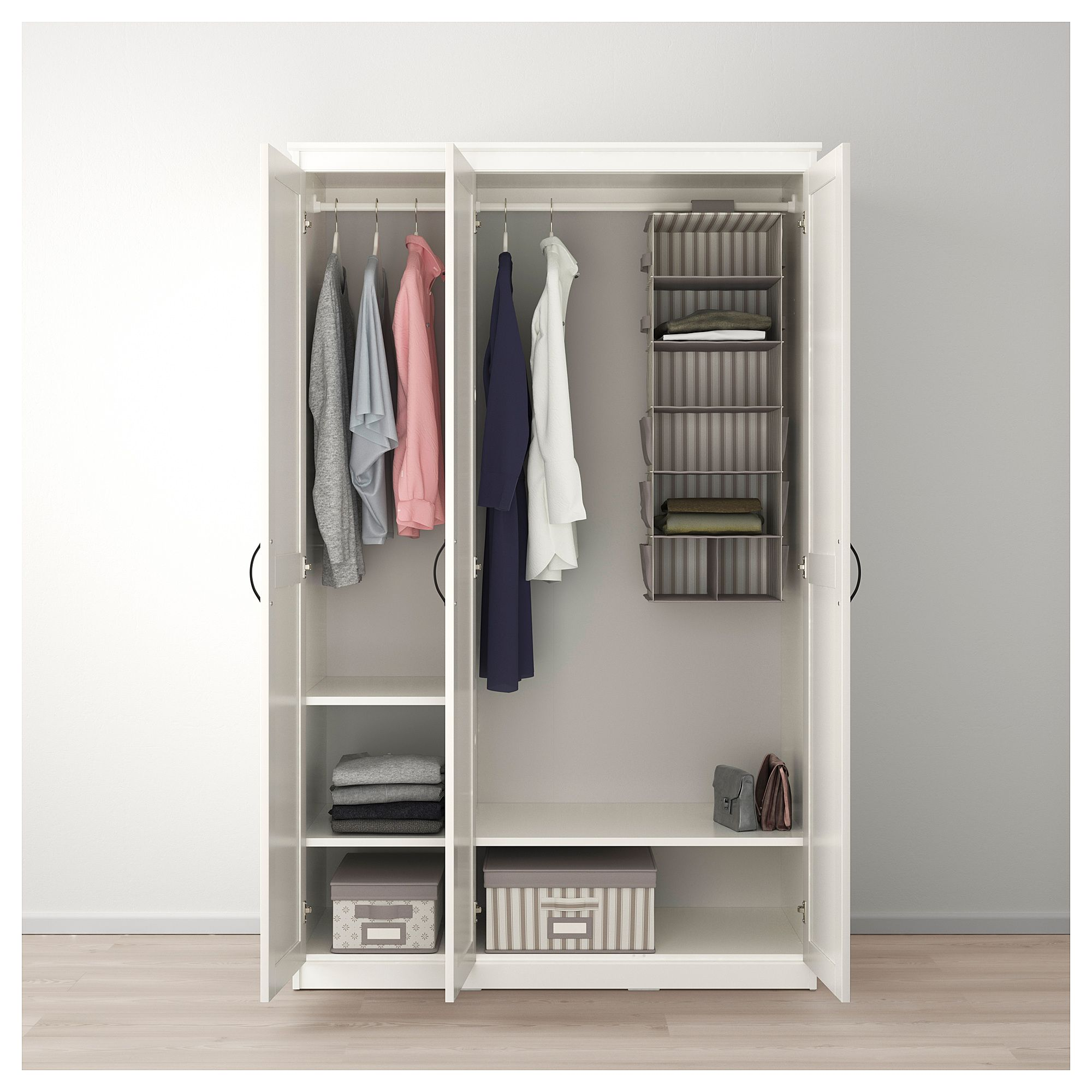 Ikea songesand wardrobe white closet stuff ikea for Librerie angolari ikea