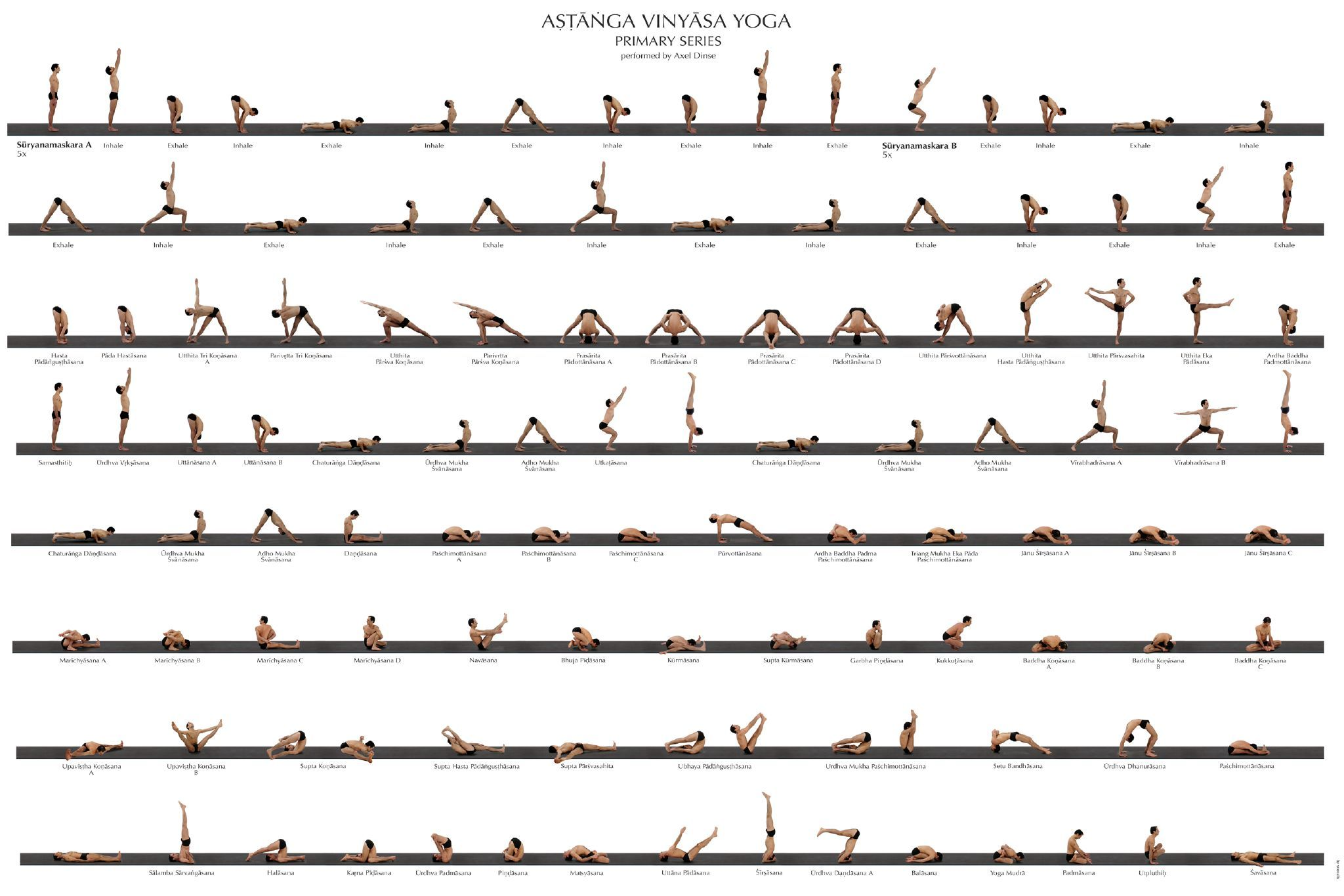 Ashtanga Yoga Poster | Health, Yoga posters and Yoga