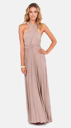 Tricks of the Trade Taupe Maxi Dress - LuLus