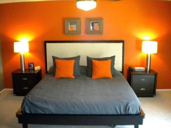 Orange und graue Schlafzimmer-Ideen Innenarchitektur 2018 Pinterest