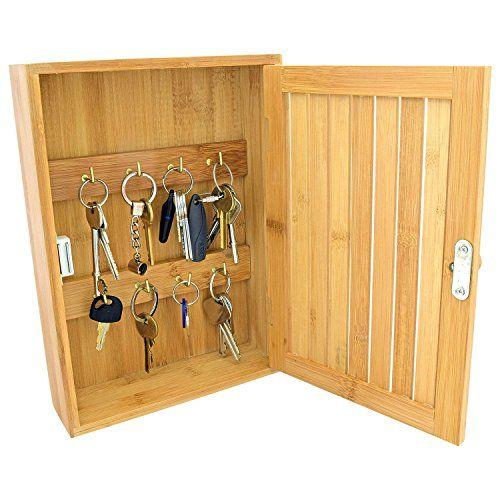 taylor brown bamboo wall mounted key box brackets cupboard rh pinterest com