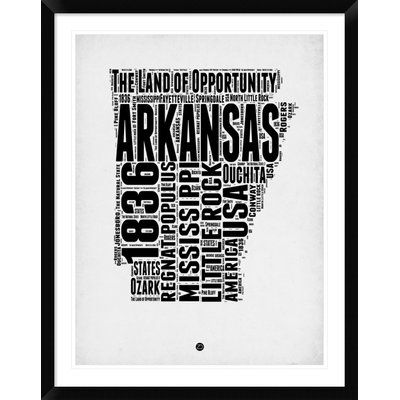 Naxart \'Arkansas Word Cloud 2\' Framed Textual Art Size: | Products ...