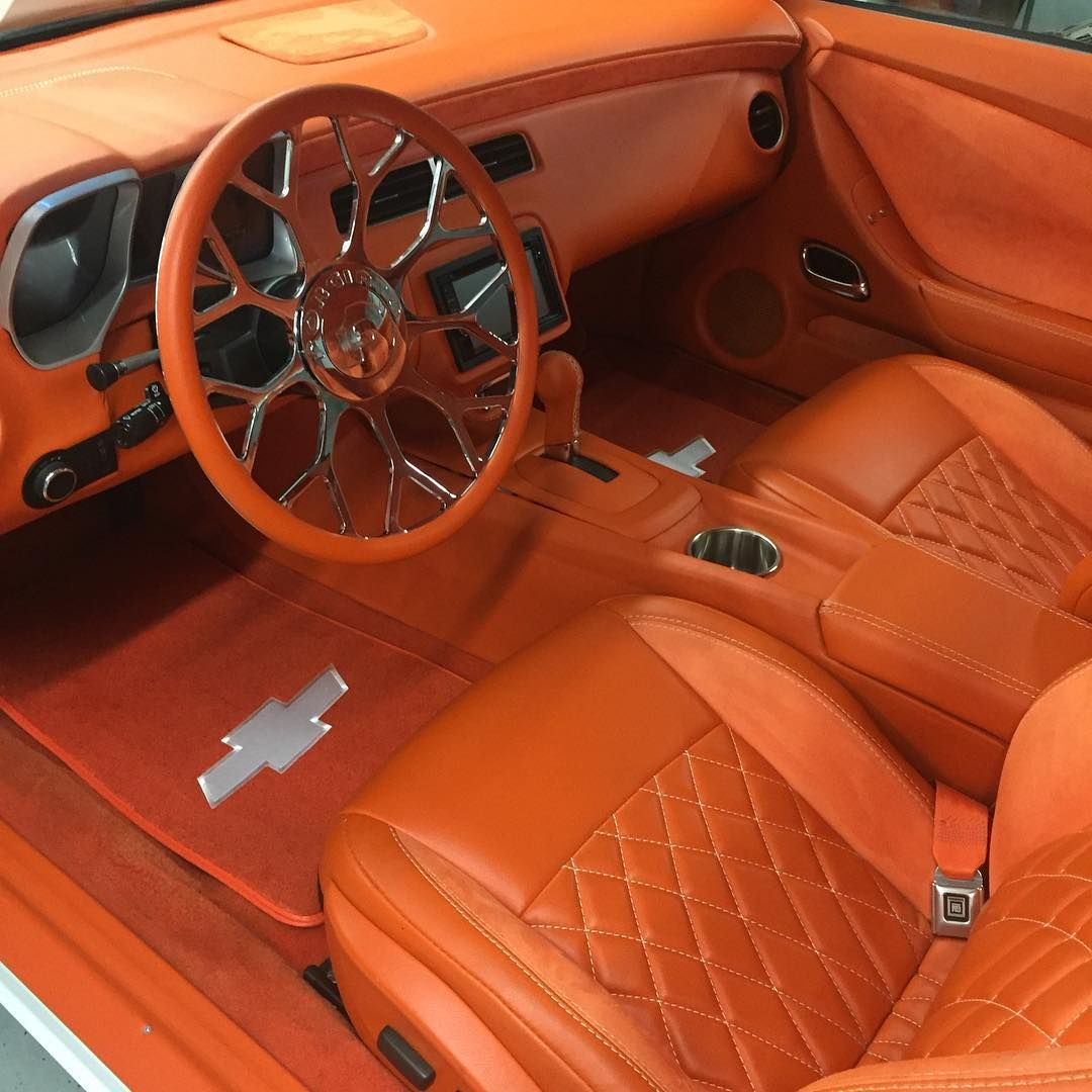 full custom 85 39 monte carlo white with all orange interior camaro dash swap seats and door