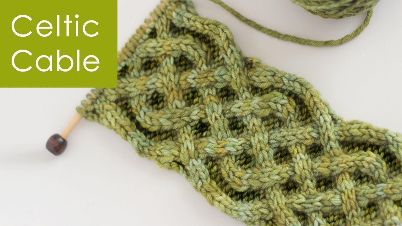 Vidéo en anglais.How to Knit the Celtic Cable | Saxon Braid Stitch ...