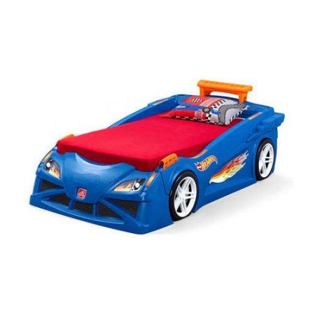 Step2 Hot Wheels Convertible Toddler To Twin Bed Blue Walmart Com In 2021 Toddler Car Bed Twin Car Bed Twin Car Convertible toddler to twin bed