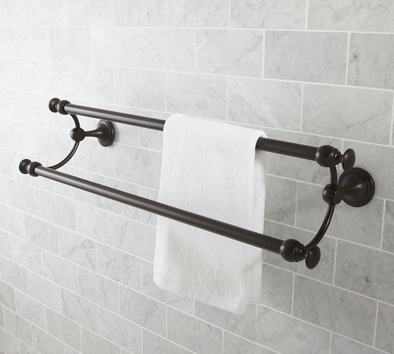 Mercer Double Towel Bar Decor In 2019 Towel Bar Height