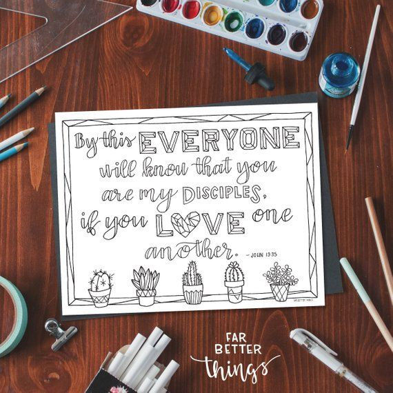 photo about Love One Another Printable identify Bible Verse Coloring Web site - John 13:35 - Printable Electronic