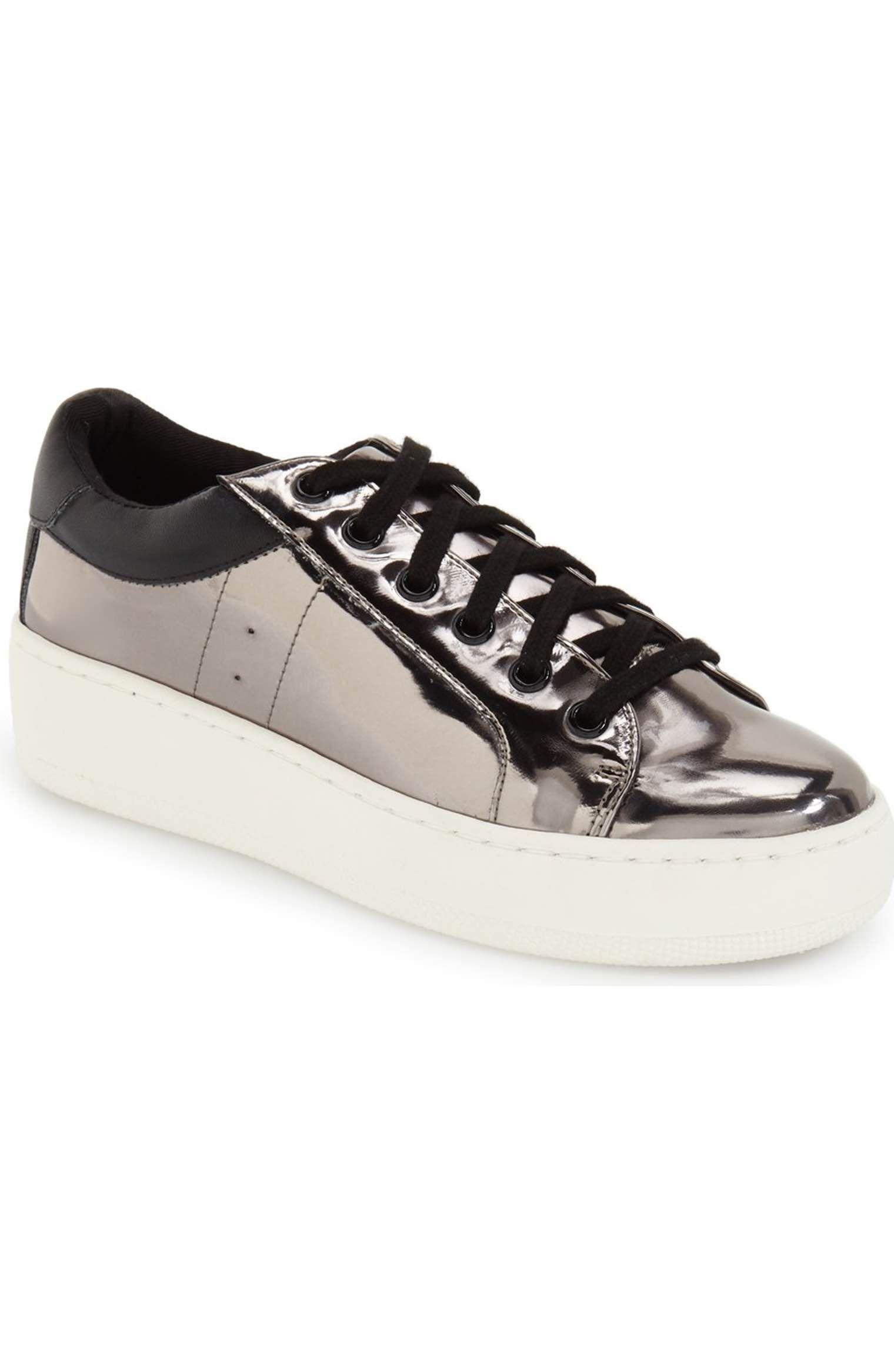 01a92b09eb2 Main Image - Steve Madden  Bertie  Metallic Platform Sneaker (Women ...