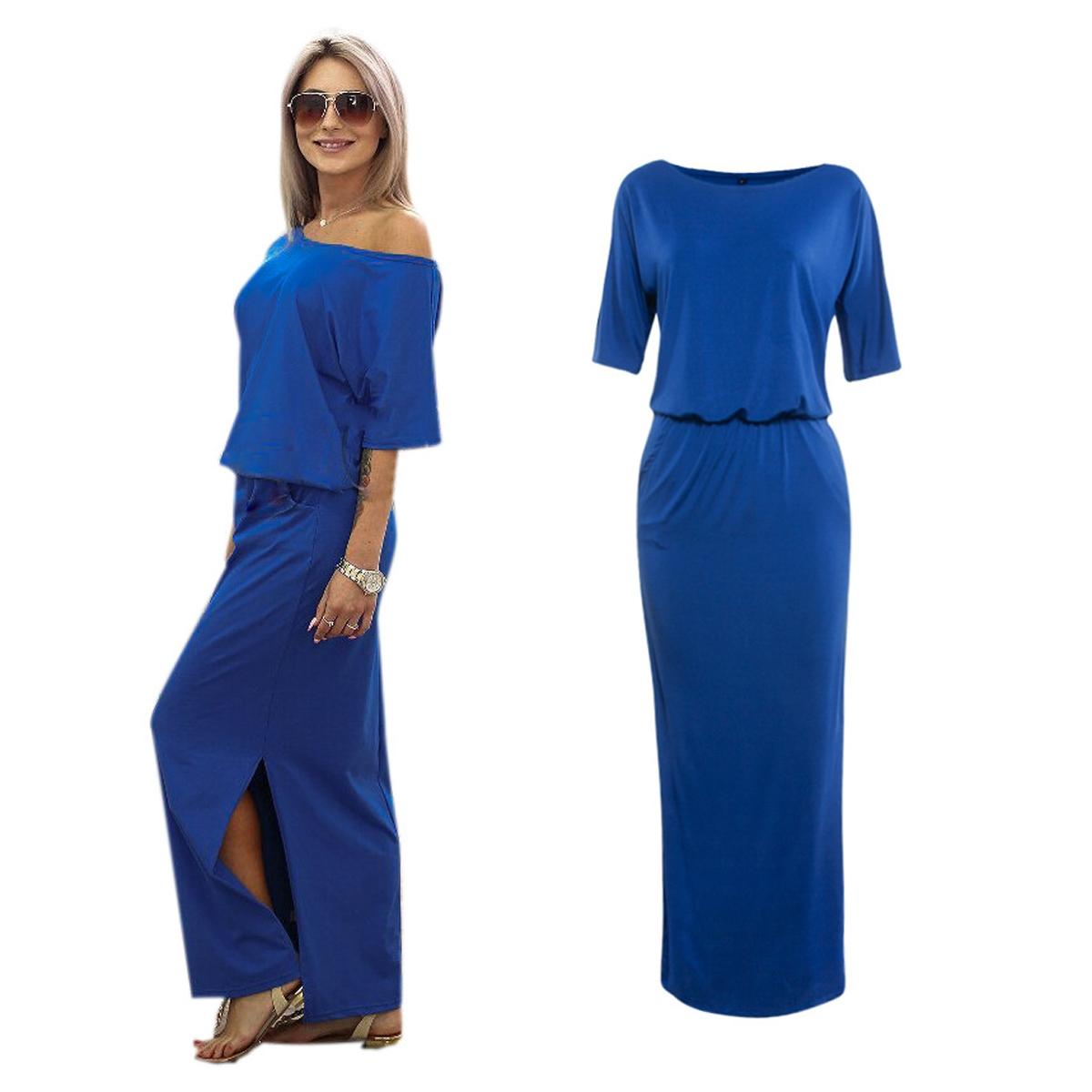 buy here women summer long dress casual boho side split