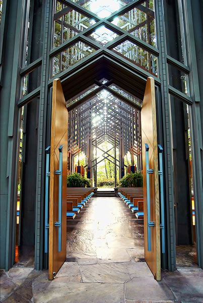 Thorngrown Chapel Nestled In The Ozark Mountains Near Eureka Springs Arkansas