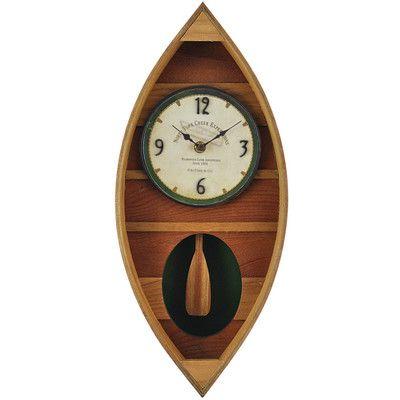 FirsTime Wood Canoe Wall Clock