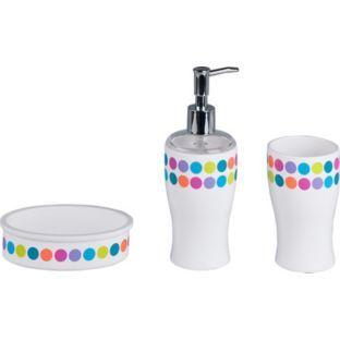 Buy Colourmatch Bathroom Accessories Set Spots At Argos Co Uk Your Online Shop For Bathroom Set Bathroom Accessories Sets Beautiful Bathrooms Bathroom Sets
