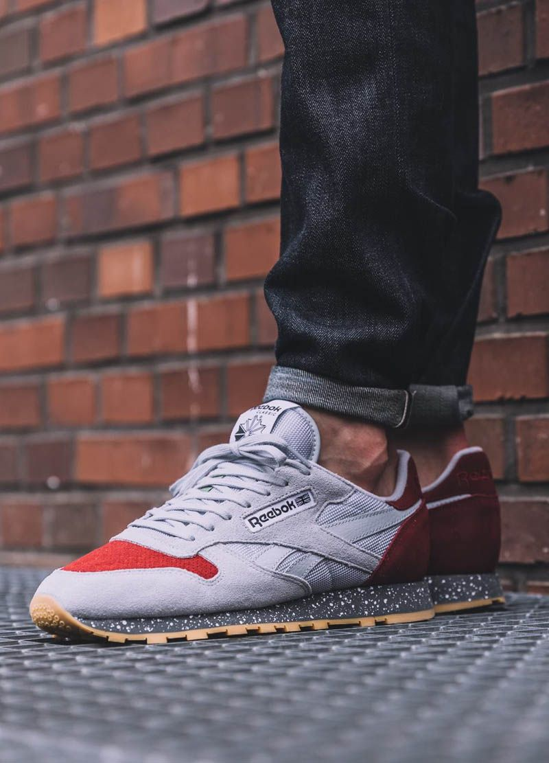 reebok classic leather selvage denim jeans