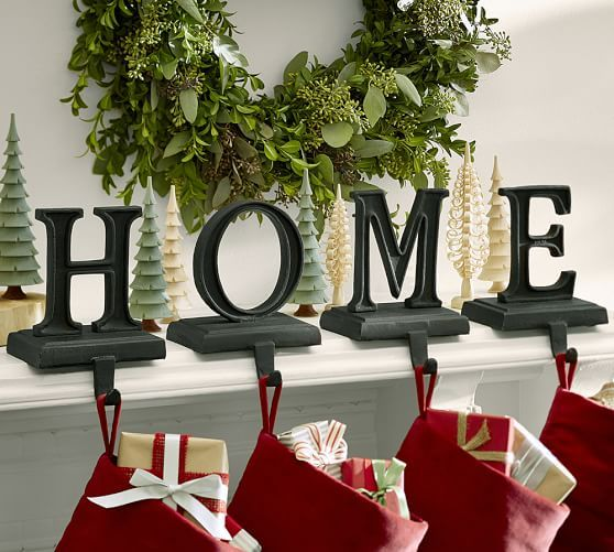 Bronze Alphabet Stocking Holders Holiday Decor Christmas