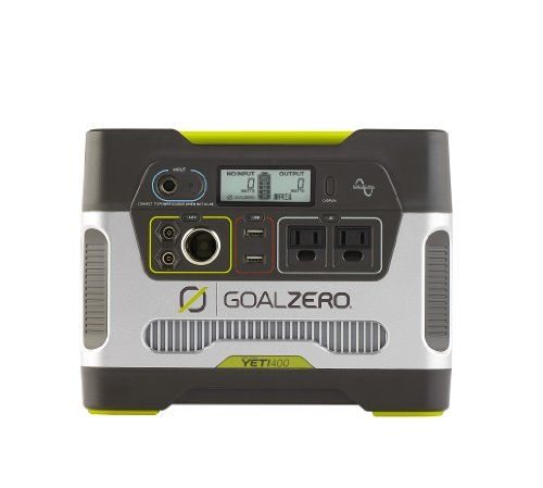 """This Yeti Solar Generator's name is a little misleading, it's not really a """"solar generator"""", it's a battery power pack with a built-in inverter that can be charged by solar panels (or AC outlet). In other words, you have to charge the internal battery with an external source. It has USB outlets and AC wall-type plugs. In spite of the slightly confusing name, it's a great backup power source."""