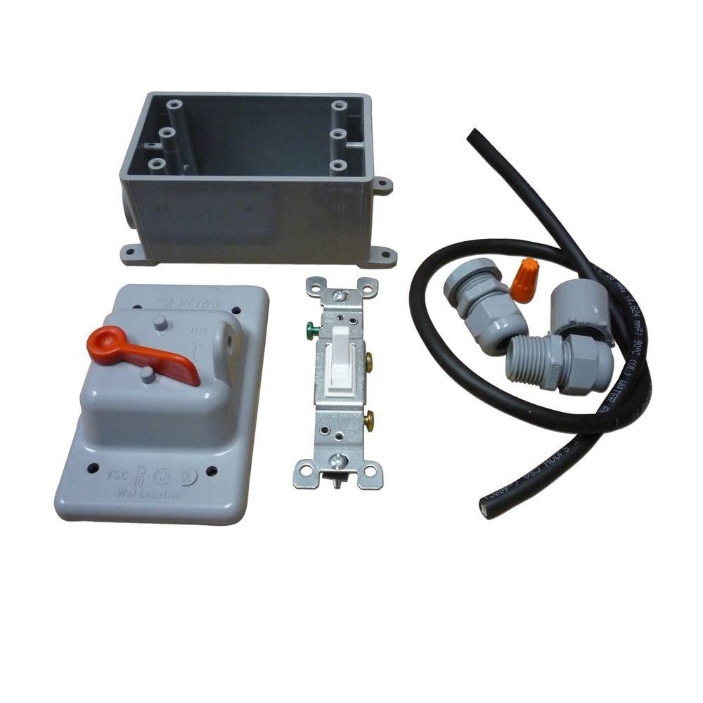 Radonaway Exterior Switch Kit For Sf180 Radon Fan White In 2020 Home Depot Recycling Programs Switch Covers