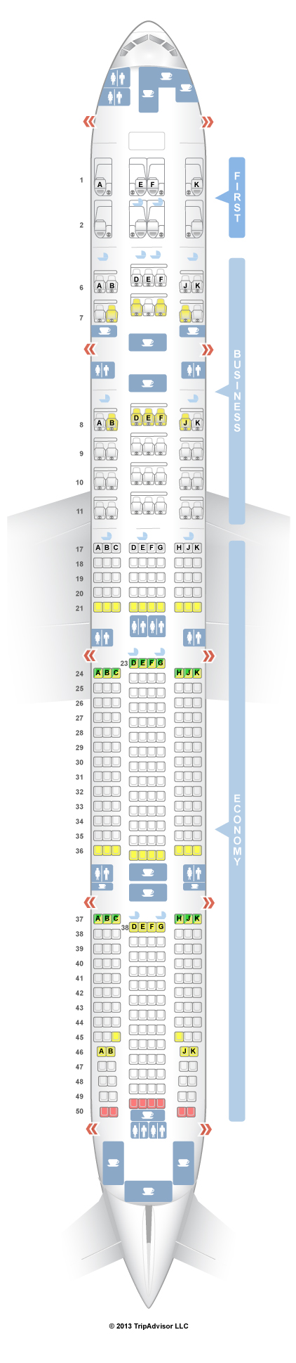 SeatGuru Seat Map Emirates Boeing 777-300ER (77W) Three Cl V2 ... on