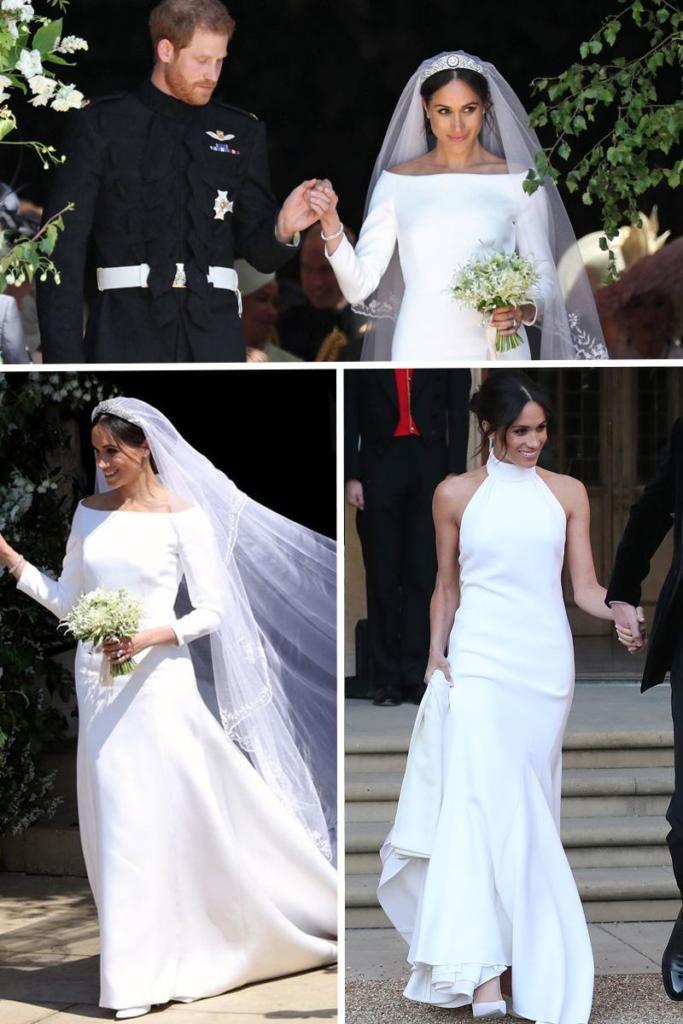 Stella Mccartney Stretch Crepe Halterneck Wedding Dress Meghan Markle Dress Like A Duc Meghan Markle Wedding Dress Megan Markle Wedding Dress Wedding Dresses