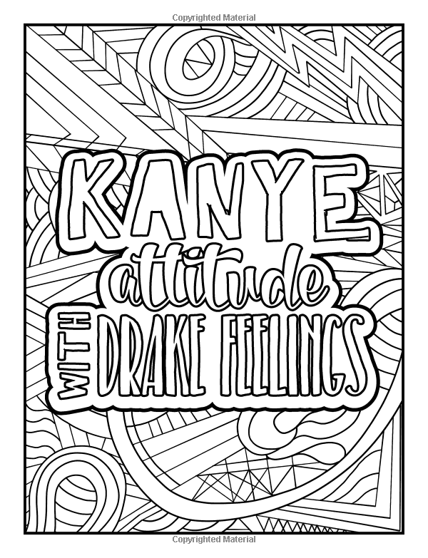 Amazon A Snarky Adult Colouring Book My Lack Of Inner Peace Is