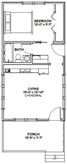 16x30 tiny house 16x30h3a 480 sq ft excellent floor plans - 9 Sq Ft Tiny House Floor Plans