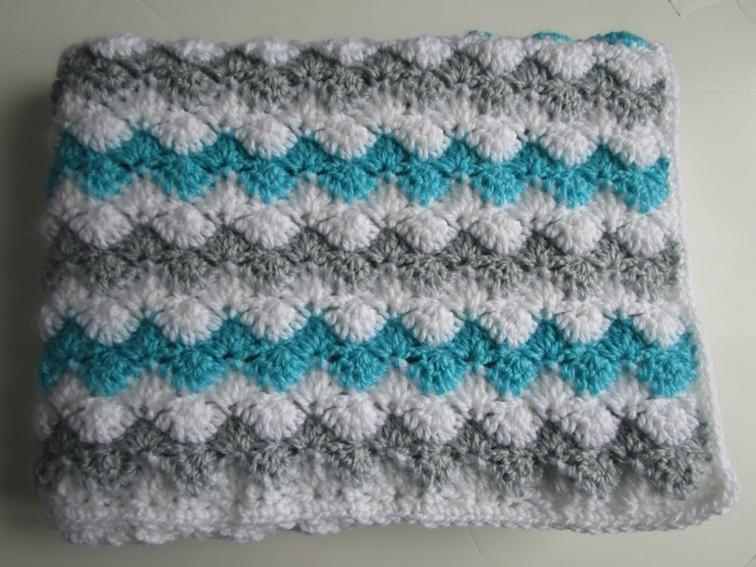 Zig Zag Shells Crochet Pattern, Afghan, Blanket