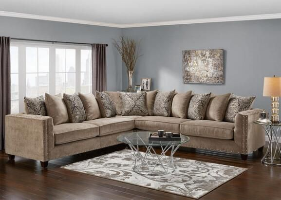 Newcastle 3 Pc Sectional Platinum Sectionals Living Room Sectional Comfortable Living Rooms Living Room