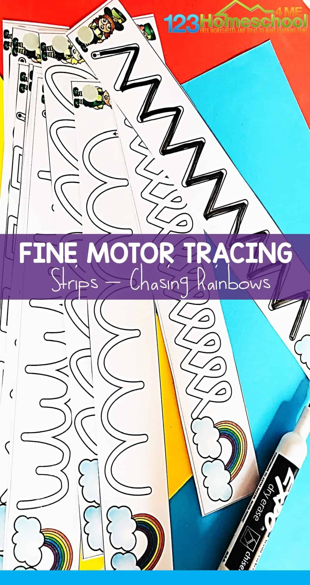Free St Patrick S Day Tracing Strips