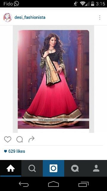 Black and pink lengha