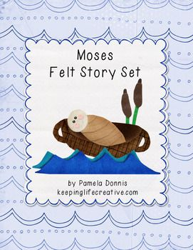 FREE Printable | Printable pieces for telling the Bible story of Moses