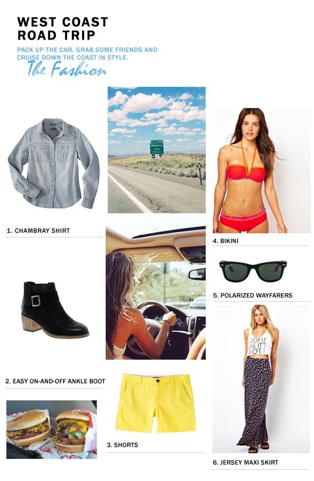 The StyleUp: Packing Essentials: West Coast Road Trip Blog | StyleUp