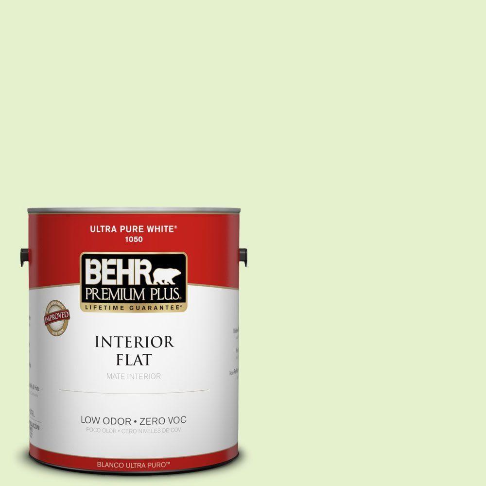BEHR Premium Plus 1-gal. #420C-2 Water Sprout Zero VOC Flat Interior Paint