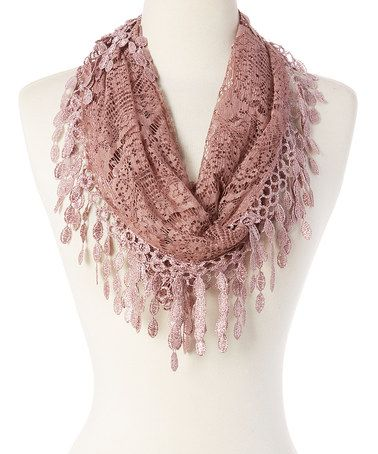 Another great find on #zulily! Light Purple Lace Scarf #zulilyfinds