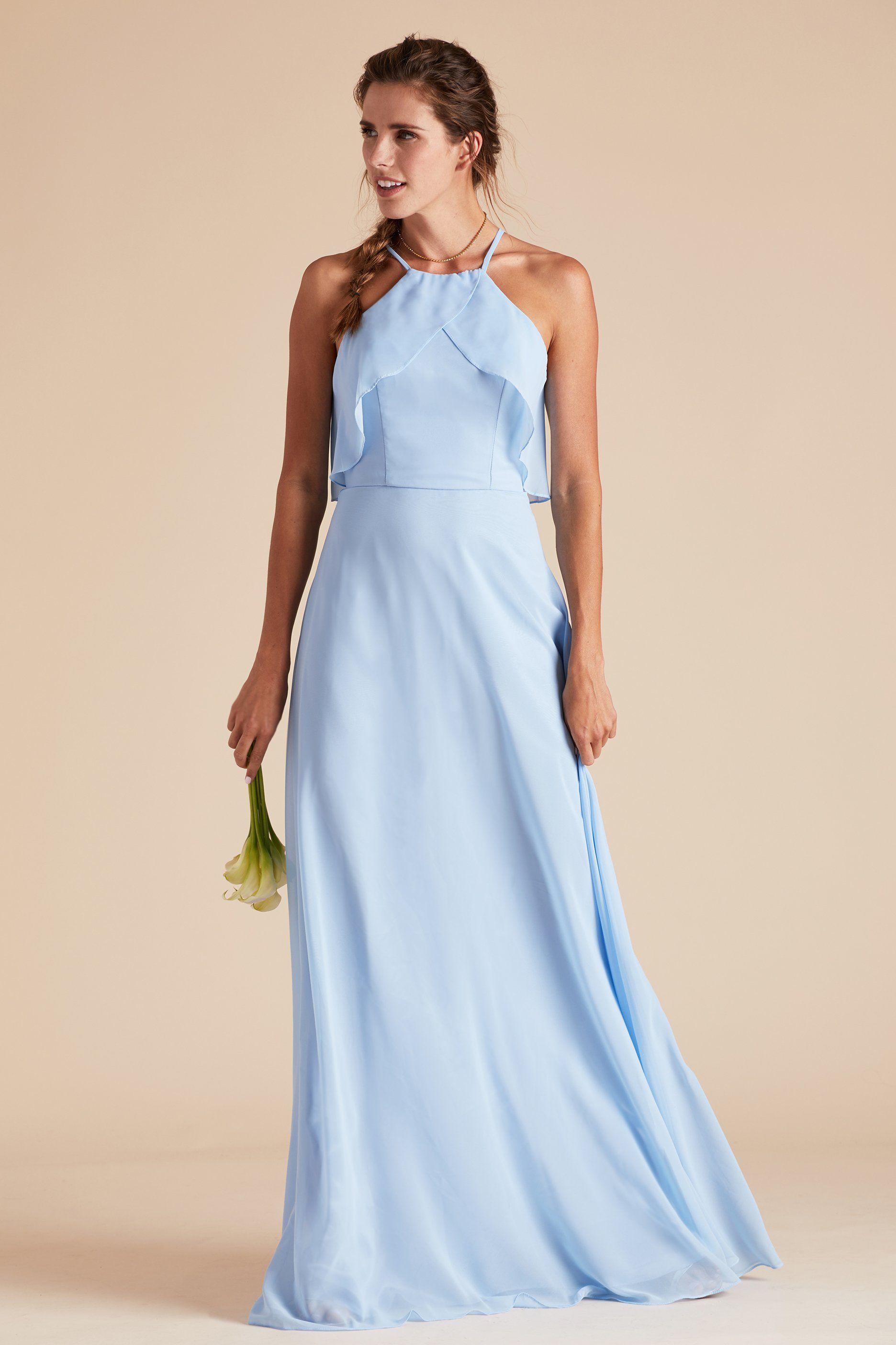 getting lighting dresses photos light said she wedding bridesmaid ready pin blue dressed day