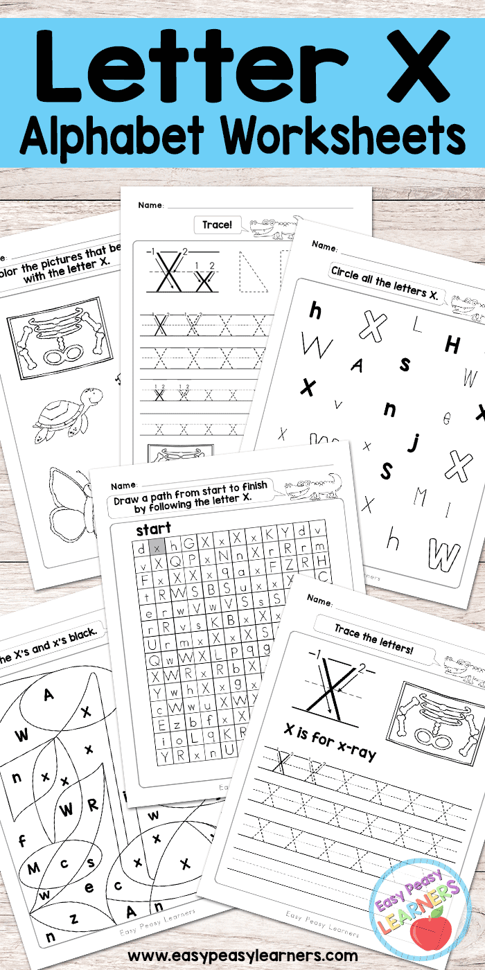 free printable letter x worksheets alphabet worksheets series activities for kids. Black Bedroom Furniture Sets. Home Design Ideas