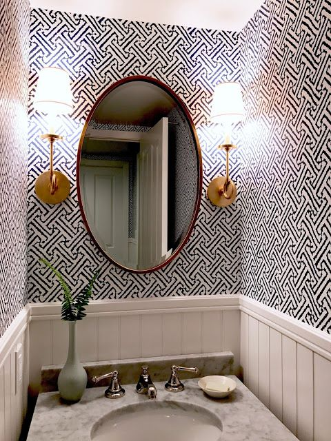 classic • casual • home #modernpowderrooms