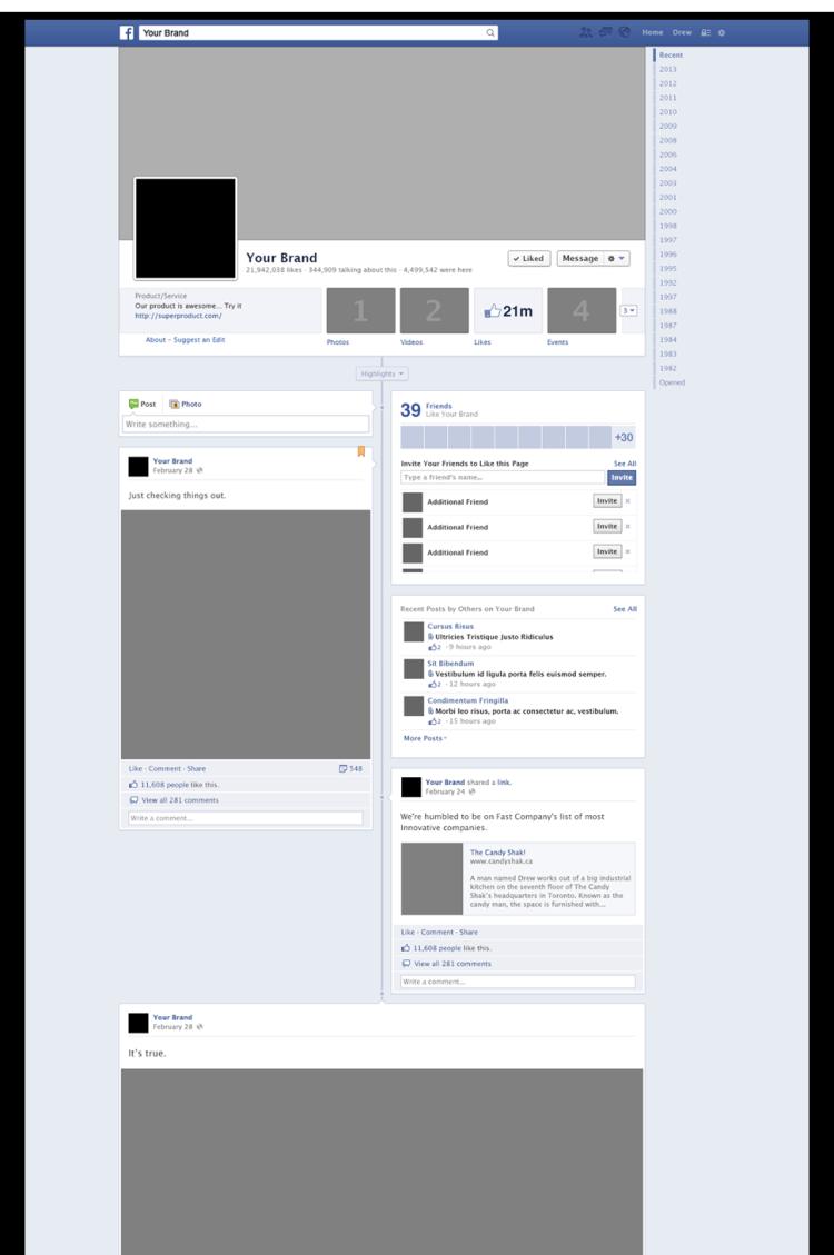 mock facebook pages