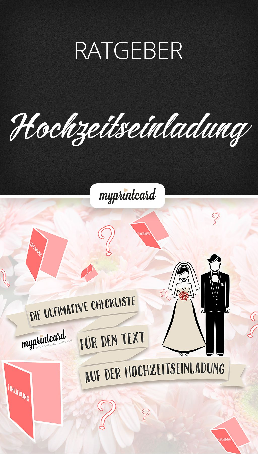 Hm... Was Gehört Denn Nur Rein In Den Text Auf Der Hochzeitseinladung?