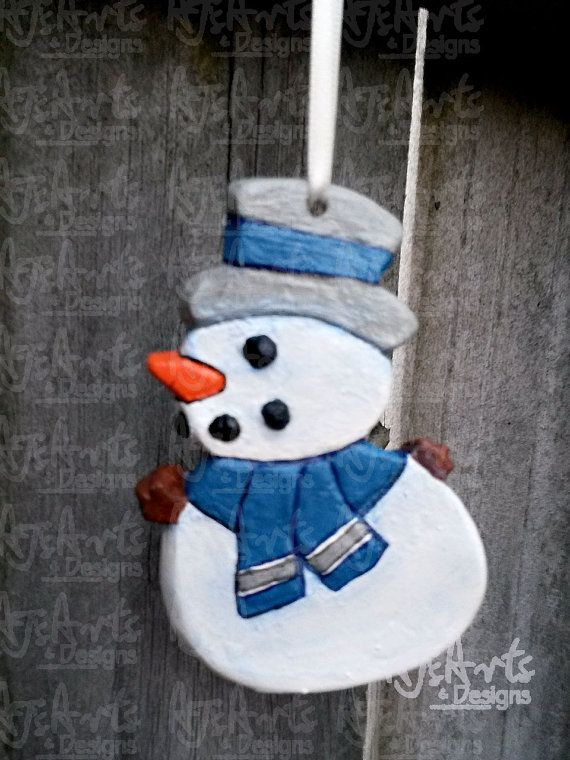 OOAK  Snowman Ornament 50 PERCENT is Donated to St. by ajsarts