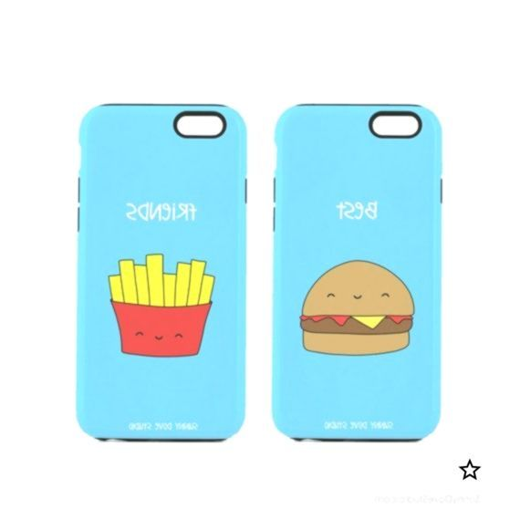 Phone Case Funny Best Friends BFF iPhone Cases Gift For Friend Her Hamburger Fri...,  Phone Case Funny Best Friends BFF iPhone Cases Gift For Friend Her Hamburger Fri...,