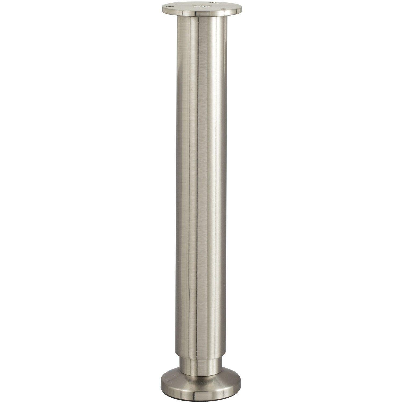 Tele Au Pied Du Lit pied de lit / sommier cylindrique réglable aluminium chromé