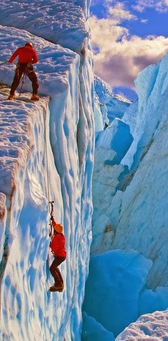 Alaska Ice Climbing...no freaking way! Beautiful...but my feet like to be on the ground...thanks