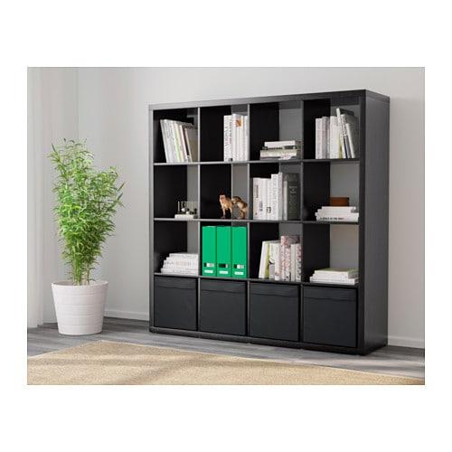 Ikea Expedit Boekenkast Zwart Bruin.Open Kast Met 4 Inzetten Kallax Wit In 2019 Home Inspiration
