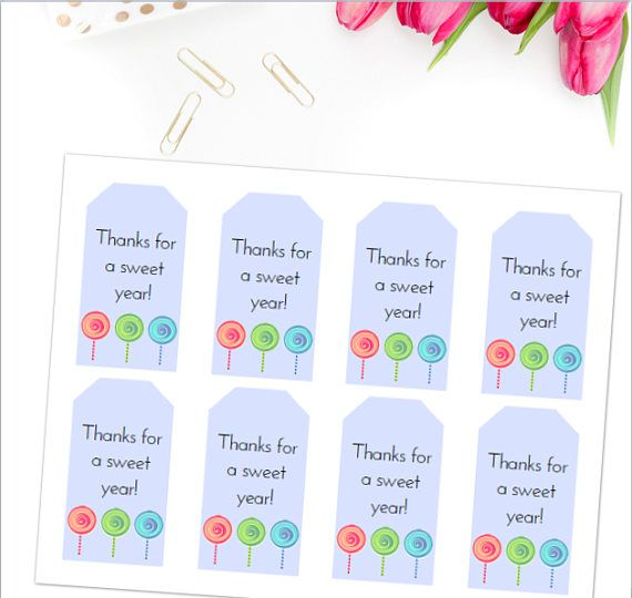 picture relating to Teacher Appreciation Printable Tags identified as Instructor Appreciation Printable Tag Fixed: Sweet themed instructor
