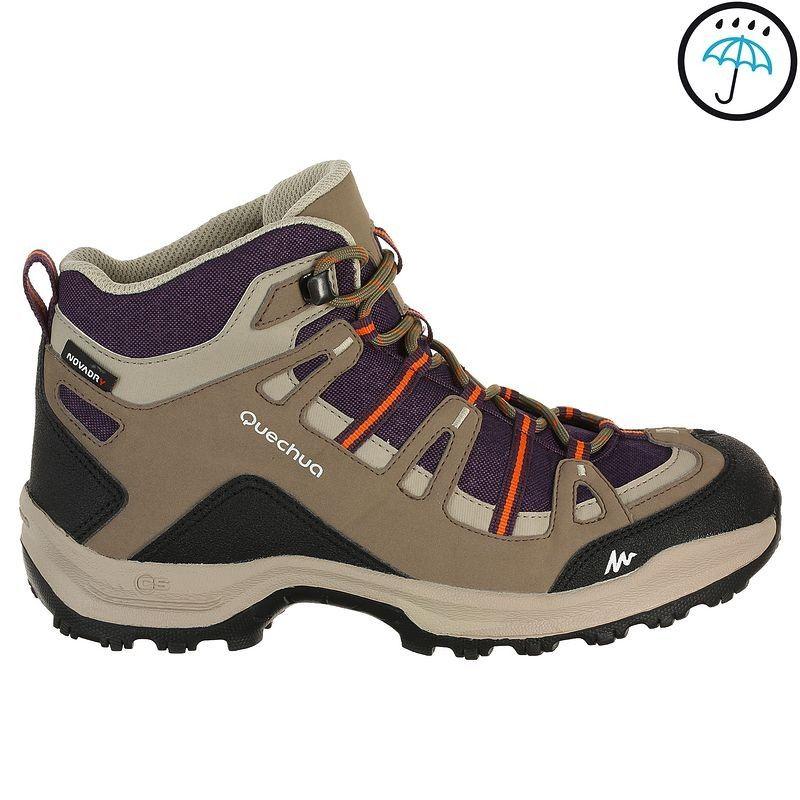 Turystyka Kobiety Turystyka Buty Turystyczne Arpenaz 100 Mid Damskie Quechua Obuwie Hiking Shoes Women Walking Boots Boots