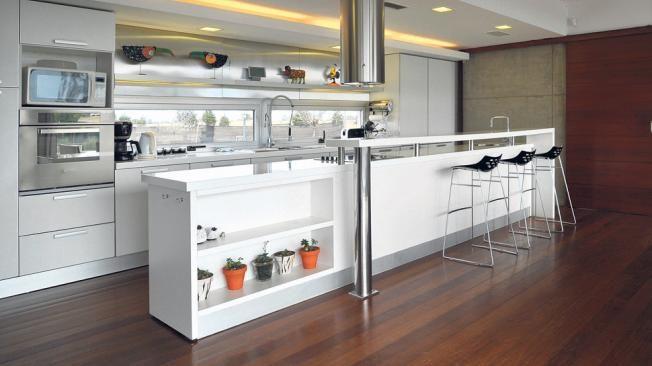 Un componente ideal para resolver el desayunador o como for Mesadas de cocina pequenas