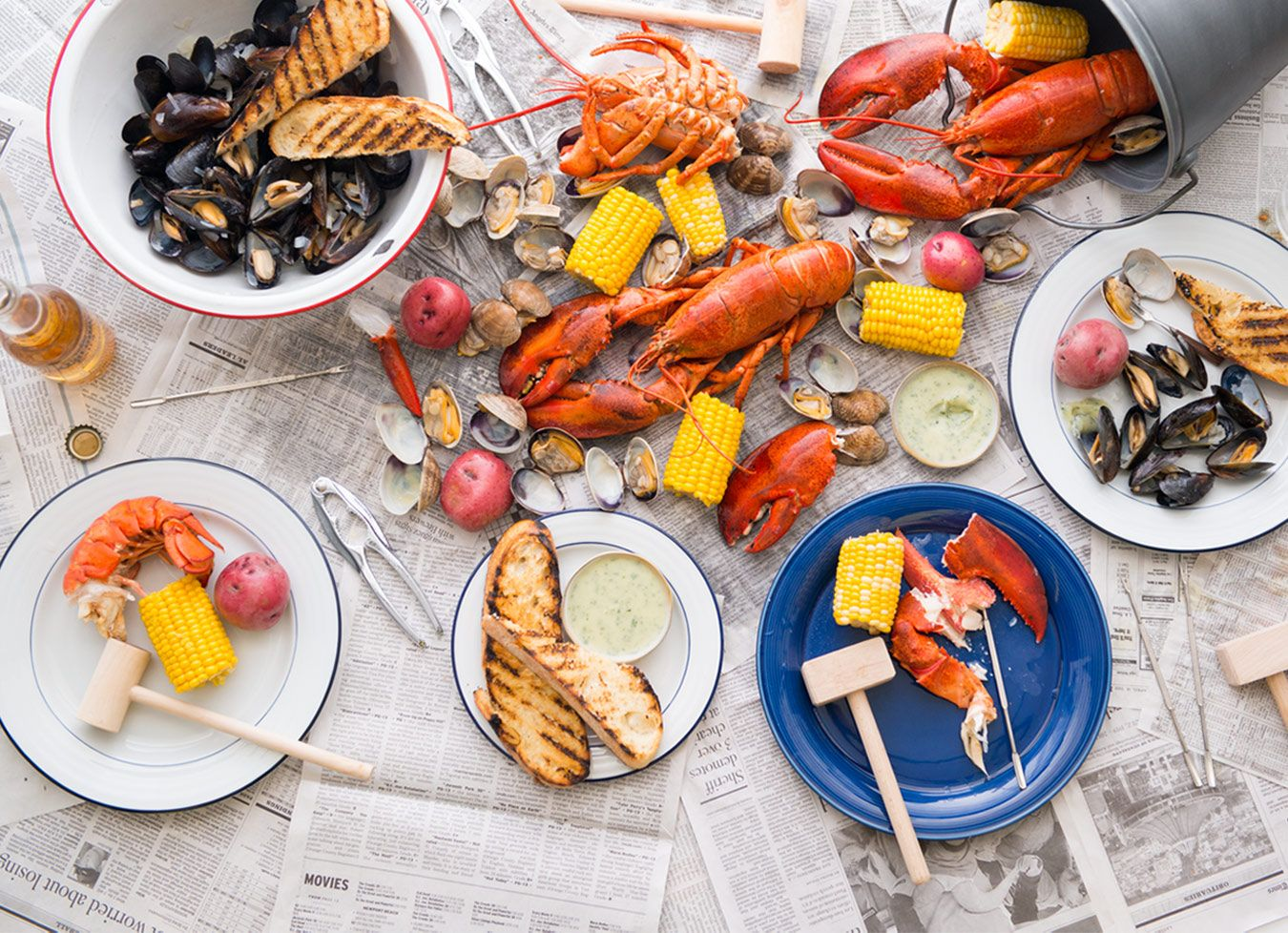 new england clambake u2013 lobster grilled mussels and la brea